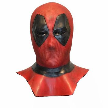 Deadpool Mask Cosplay Costume Deadpool 2 Full Head Adult Latex Masks Handmade Movie Props Halloween Mask Fancy Party Toys