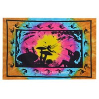 Alice in wonderland tapestry, Fairy Tie Dye Tapestry Wall Hanging - RoyalFurnish.com