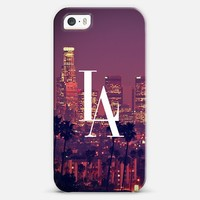 Los Angeles Downtown Skyline Vintage Typography DTLA iPhone 5s case by Rex Lambo | Casetagram