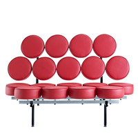 Othello Couch in Genuine Leather Red