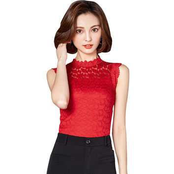Lace Blouse 2017 Women New Korean Fashion Off Shoulder Blouse Floral Women Tops Camisa Mujer Peplum Top Ladies Clube Wear Blouse