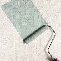 Graham & Brown Floral Square Paintable Wallpaper- White One