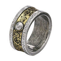 Induction Matrix Ring - New Age, Spiritual Gifts, Yoga, Wicca, Gothic, Reiki, Celtic, Crystal, Tarot at Pyramid Collection