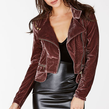 All Time Low Velvet Moto Jacket