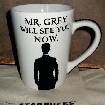 Christian Grey 50 Shades Of Grey Coffee Cup - YOU CUSTOMIZE!