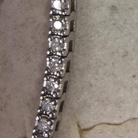 3.95 Carat 14k White Gold Tennis Bracelet G Si1 Fine Heavy Make, Must See to Appreciate!