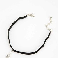 Vanessa Mooney Teardrop Choker Necklace- Silver One
