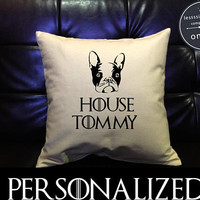 Custom Personalized French Bulldog , Game of Thrones Pillow cover Pillow Cover, The Office Dog Lover , cotton canvas pillow cover