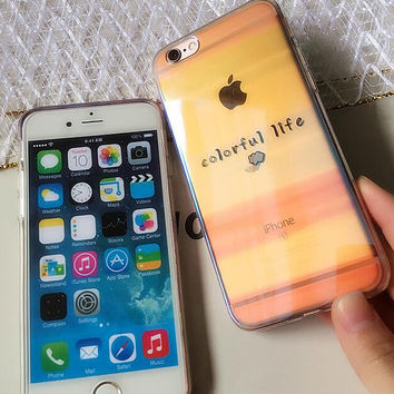 Colorful life phone case for iPhone 7 7 plus iphone 6 6s 6 plus 6s plus + Nice gift box 080902