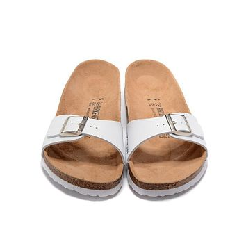 Birkenstock New Style 5 Summer Fashion Leather Cork Flats Beach Lovers Slippers Casual