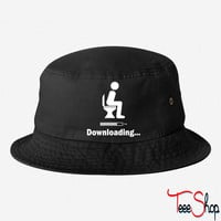 Downloading - funny bucket hat