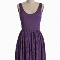setting sun purple lace dress