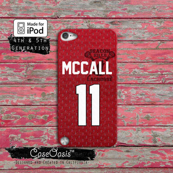 Teen Wolf Inspired Scott Mccall Beacon Hills Lacrosse Jersey iPod Touch 4th Generation or iPod Touch 5th Generation Rubber or Plastic Case