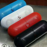 Beats Pill Rechargeable Bluetooth Stereo Speaker With Custom Sound Case F-A-GHSY-1