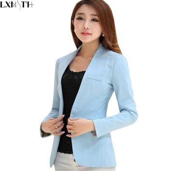 Ladies Suit Blazers Women White Plus Size Blazers For Women Jacket Slim For Work Women Blazers And Jackets 2016 Blazer Mujer