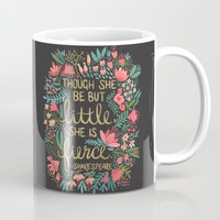 Little & Fierce on Charcoal Mug by Cat Coquillette