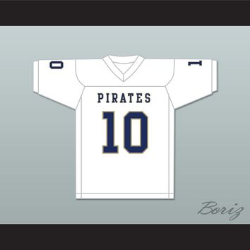 Drake Smith 10 Independence Community College Pirates White Football Jersey