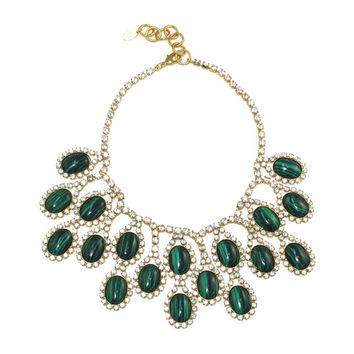 Verbenia Necklace, Malachite