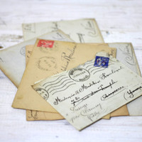 1940s French Love Letters for Mademoiselle Madeleine Roulinat-set of 6