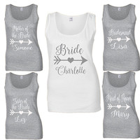 Personalized Bridesmaid Tank - Bachelorette Shirt - Bridesmaid Party Tank - Bride tank - Bachelorette Tank - Bride Tribe  Bachelorette top
