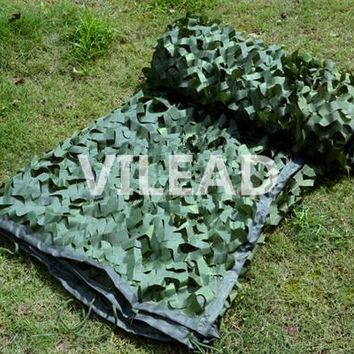 VILEAD 4M*5M Green Digital Camouflage Netting Jungle Camo Net Tarp Army Tarp Camping Sun Shade Hunting Shelter Camo Mesh Net