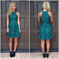 Vines of Envy Emerald Dress