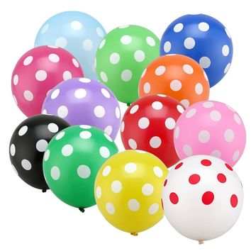20pcs/lot 12 inch Latex Polka Dots Balloons Wedding Birthday Party Decoration Balloons Globos Party Ballon Toys for Kids