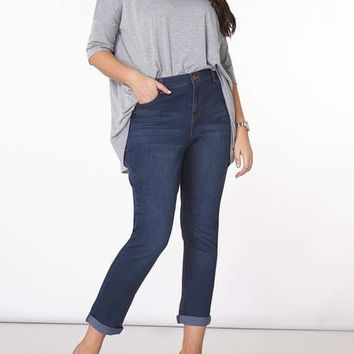 DP Curve Mid Wash Boyfriend Jeans - Plus Size Jeans & Trousers - Shop By Fit