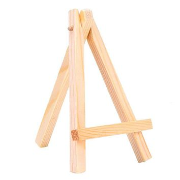 High Quality 10pcs 15*8cm Mini Wood Artist Easel Wedding Table Calendar Number Place Name Card Stand Display Holder