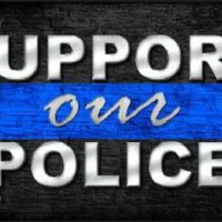 Support Our Police Thin Blue Line  Car Truck License Plate Tag