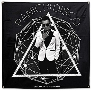 Panic! At The Disco- Photo Galaxy Flag Fabric Poster 48 x 48in