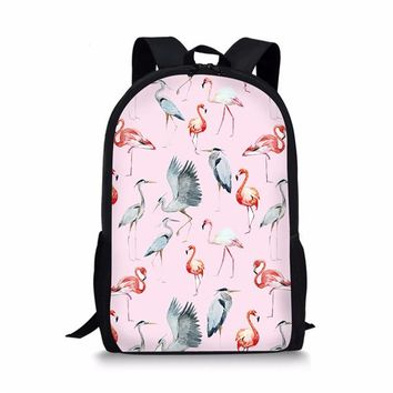 Toddler Backpack class FORUDESIGNS Charms Flamingo School Bag for Toddler Girls Stylish Primary Middle School Kids Schoolbag Casual Children Backbags AT_50_3