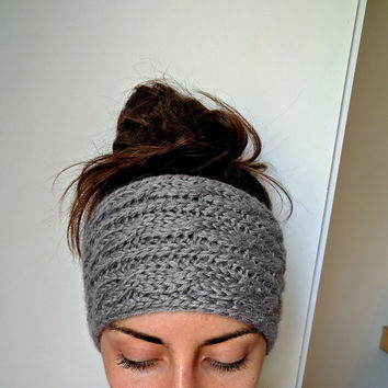 Chunky Cable Knit Ear Warmer, Thick Knit Headband Ear Warmer, Chunky Head Wrap, Knit Super Chunky Headband, Cozy Knitted Winter Headband