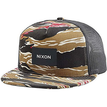Nixon Team Trucker Hat Khaki/Camo, One Size