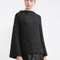 BELLED SLEEVE SWEATER