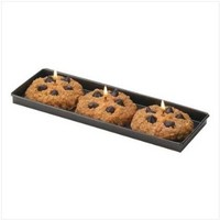 Fresh Baked Chocolate Chip Cookie Candle Set With Tray