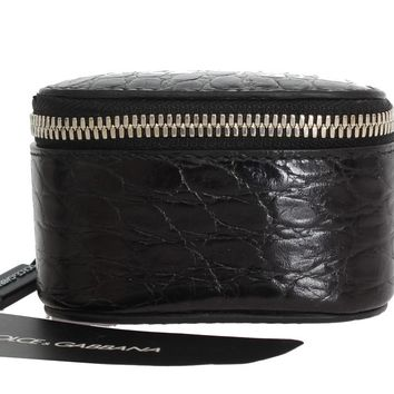 Black Leather Accessory Case
