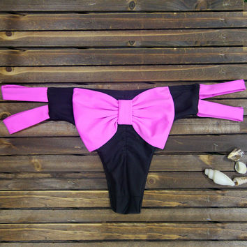 Pink Bow Tie Strappy Bottom