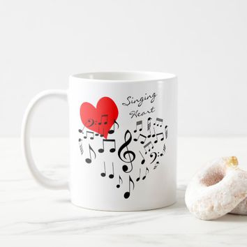 Singing Heart Love Is In The Air funny Coffee Mug