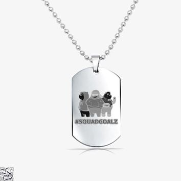 Squad Goals, We Bare Bears Tag Necklace