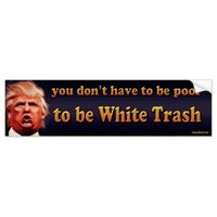 you don't have to be poor to be white trash bumper sticker