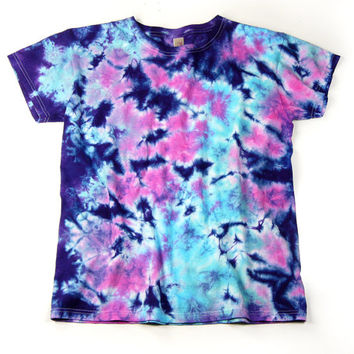 Ladies Tie Dye Shirt, Salt Water Taffy Design, Eco-friendly Dyeing