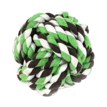 Indestructible Dog Toys Balls Resistant To Bite Bone Puppy Molars Play For Teeth Training Cotton Knot Rope Ball Pet Supplies