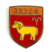 Aries Zodiac Pin