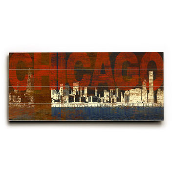 Chicago by Artist Cory Steffen Wood Sign