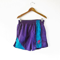 Vintage 1990s Lotto Italia Purple Athletic Soccer Shorts Sz S