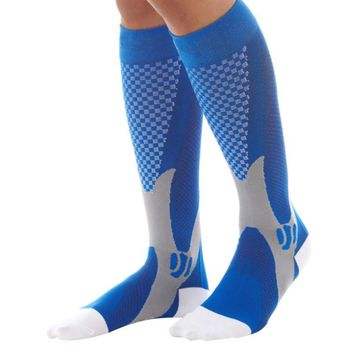 Unisex Leg Support Stretch Compression Socks Active School Team Socks