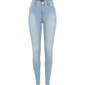 River Island Womens Light wash Molly jeggings