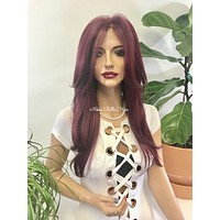 Burgundy Red Lace Front Wig - Wild Maple