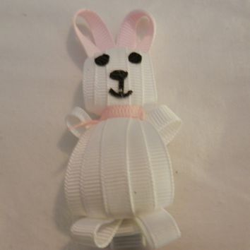 RIBBON SCULPTURES - EASTER  - WHITE BUNNY